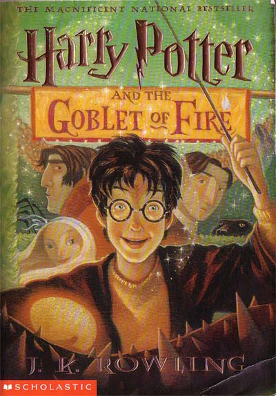 Harry Potter Book Cover Creator : Book review harry potter and the goblet of fire girl