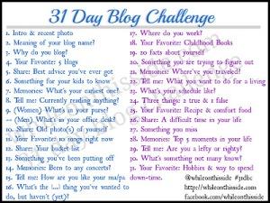 31 days blog challenge!
