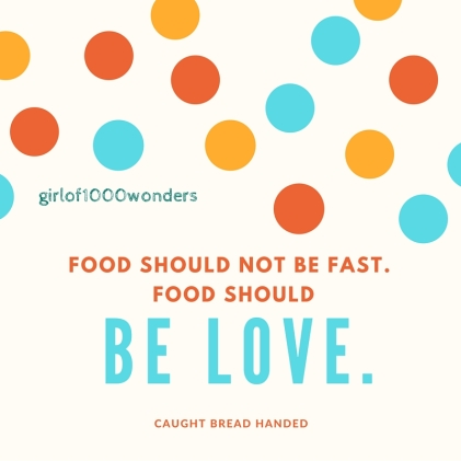 food should not be fast