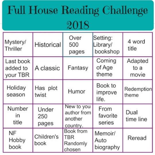 Full House Reading Challenge 2018